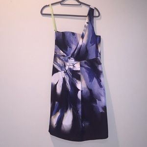 Tahari one shoulder blue cocktail dress size 6